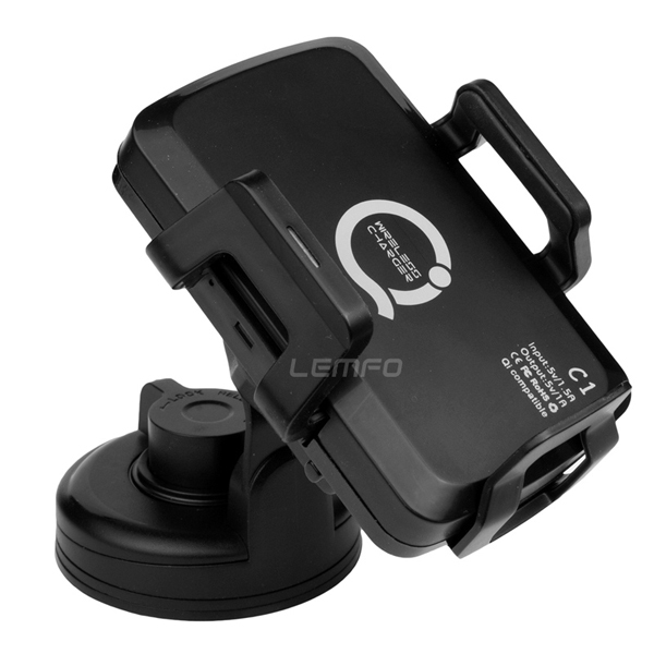 Car Qi Wireless Charger Premium Qi-enabled Charging Pad + Mount Holder Cradle for Nokia Lumia LG HTC Droid Samsung iPhone5 5S(China (Mainland))