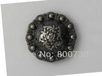 "10PC 1"" Western Concho Flower Concho Antique-Silver"