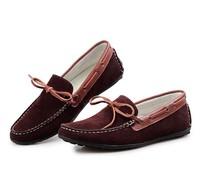 Новый британский стиль мужчины платье/формальных Полуботинок летний дышащей квартиры обувь натуральная кожа зашнуровать обувь коричневый / черный
