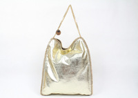 Women's 'Falabella' Shaggy Deer Metallic Gold Tote Bags faux leather Baby Chain Shoulder bags size 35x37x 8cm  DHL Free shipping
