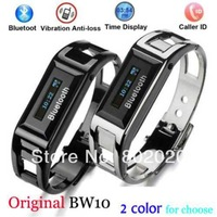 Free Ship! Stainless Vibrating Bluetooth Bracelet smart watch with OLED caller ID display for smart phone BW10 original