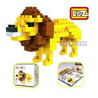 Lion King Yellow LOZ Diamond Nano Mini Building Blocks Enlighten Bricks Figure