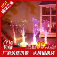 Product light emitting fiber optic colorful candle led 2 small toys