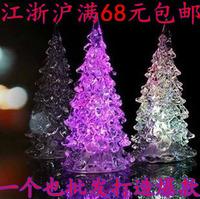 Flash acrylic christmas tree night light colorful luminous led toy small night light sale of goods