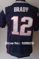 Hot Sale #12 Tom Brady Jersey,Cheap American Football Jersey Elite Authentic Jersey Stitched Logo Embroidery Sport Jersey