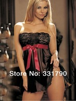 (min order 10$) 615521 Hot sales sexy black lace babydoll suit appeal plus size sexy dresses wholesale