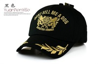 new 2014 Baseball cap Style hot hats high quality for men women / Fashion Spring summer gold embroidery Leaf  wine red black 2