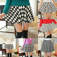 Women summer shorts 2013 vintage dots Fashion New Skirt pants pleated chiffon short pants with belt Candy colors Free shipping