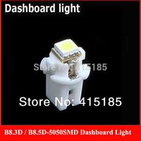 Free Shipping 4x T5 LED Lamp B8.5D Car Gauge 5050 1 SMD Speedo Dashboard Dash Side Light Bulb White,Red,Blue