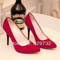 Free shipping 2014 spring women pumps thin heels high-heeled single shoes pointed toe women's shallow mouth women shoes
