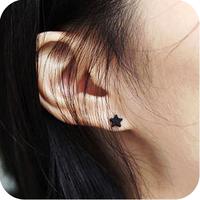 Min Order $20 (mixed order) Oe0389 accessories female black dot cute heart earrings stud earring 2g