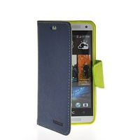 Refined Luxury Flip Leather Wallet Card Shell Pouch Stand Case Cover For HTC One Mini M4