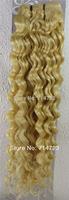 "FREE SHIPPING Virgin Brazilian 2Sets AAA+18""-26"" Remy 100% Human Hair Extensions Weft Hair Deep #613 Light Blonde"