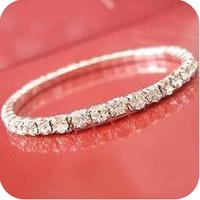Cuicanduomu 35 ob0001 elastic single-row full rhinestone shine bracelet 4g