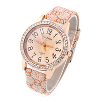 Womage Serpentine PU Strap Casual Watches Crystal Dial Women Dress Watch Analog Hot Sale