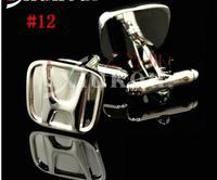 CAR ENAMEL STAINLESS STEEL SILVER ROUND OVAL WEDDING CUFFLINKS #12, 1