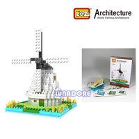 Windmill Netherlands Loz Diamond Blocks Architecture Nano Mini Bricks Gift Educational Block Toy For Children 250Pcs 11.5*8*8CM