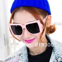 2014 New Fashion Brand Designer Sunglasses Women Big Square Frame Hollow Out Arm Sunglasses Oversize Sun Glasses Black Red #MM30