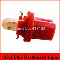 Free shipping 20X T5 B8.3D Car Gauge LED Speedo Dashboard Dash Wedge Side Light Bulb Lamp Blue 12V