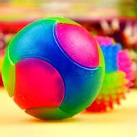 Light  pet luminous elastic rubber ball dog toys pet supplies