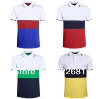 New 2014 Embroidered logo High quality men +Men's short Sleeve slim fit ,Polo shirt ,cotton ,4 size