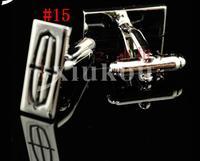 CAR ENAMEL STAINLESS STEEL SILVER ROUND OVAL WEDDING CUFFLINKS #15, 1