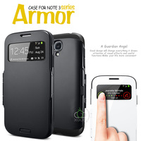 2014 SPIGEN SGP Slim Armor View Leather Case For Samsung Galaxy S4 i9500 Smart Sleep / Wake Phone Cover Bags