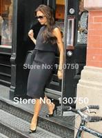 New 2014 Women's New Arrival Victoria Beckham Brief Style Back Zipper One-piece Summer Dress
