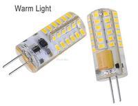 Silica gel 3.6W 360 degree G4 led bulb DC AC 12V 260LM non-polar 48 leds 3014 chip10pcs/lot free shipping