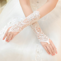 Free Shipping! Fashion Rhinestone Bridal  Dress Long Design Gloves Bandage Fingerless Lucy Rhinestone Wedding Gloves  AST033