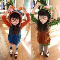 2013 autumn models girls cartoon boy suit vest vest piece fitted cashmere suits wholesale children's clothing for girls