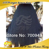 Wholesale Yaki straight virgin hair wig Glueless Lace Front wigs with baby hair mongolian unprocessed human hair free shipping