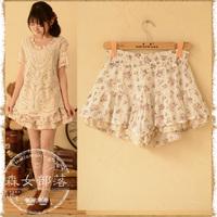 2014 spring women's limited edition sweet short design shorts female  mori girl style