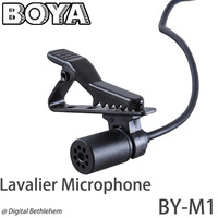 BOYA BY-M1 Omnidirectional Lavalier Microphone for iPhone 5 4S 4\DSLR Camcorder & Audio Recorders