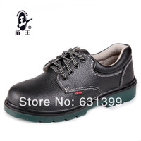 Free shipping cowhide safety shoes steel toe cap covering electric shoes insulated shoes 6kv work shoes male