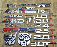 wholesale rear side emblem car sticker 1.6t 2.0t 1.8t 4wd metal metal badge sline RS M rline sports