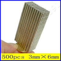 Wholesale 500pcs 3mm X 6mm N35 Rare Earth Neodymium Strong Industrial Disc Magnets To Be Fixed In Place Using Araldite/Loctite