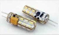 12V 2W Silica gel G4 led light 24 leds 3014 chip 360 Degree NON-POLAR chandelier lamp