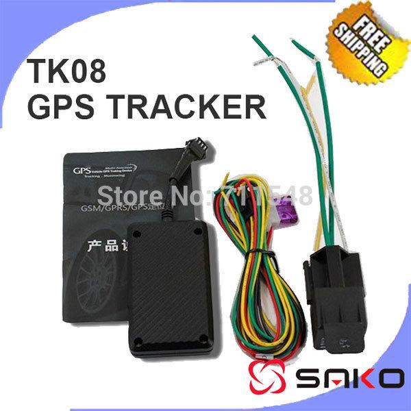 Gsm/gprscomposer/gps de voiture tracker gps du véhicule dispositif de suivi tk08 gt02 4 bande, boisl/huile de coupe/circuit de relais fonctionne dans le monde entier livraison gratuite