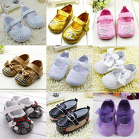 Free shipping  bowknot r riband flower Baby First Walkers Girl Shoes toddler/Infant/Newborn shoes, antislip Baby footwear  R2222