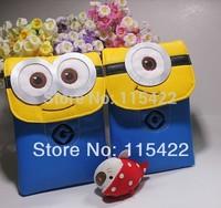 drop shipping despicable me women messenger bag cute cartoon kids minion shoulder bag 2pcs/lot high quality