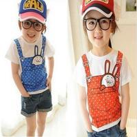 2014 girl clothing brand children t shirts/nova kids children outerwear rabbit girl t shirt wholesale 5pcs/lot free shipping