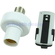 1Set New E27 Screw Wireless Remote Control Light Lamp Bulb Holder Cap Socket Switch Free Shipping(China (Mainland))