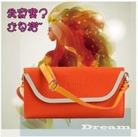 Special leather Korean version of the multi-purpose shoulder bag handbag Messenger bag handle bag clutch bag purse mobile phone