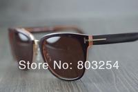 Freeshipping Best quality Brand name sunglass men's/women's Fashion TF0290 Black sunglass Brown lens UV400