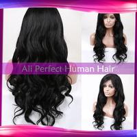 Fashion Black women wholesale 100%Brazilian full lace wig/ glueless full lace wig virgin remy human hair in stock!!