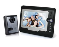 Hot Cheapest 2014 New Color Video Door Phone Wired Video Doorphone 1v1 Intercom System IR Outdoor Camera