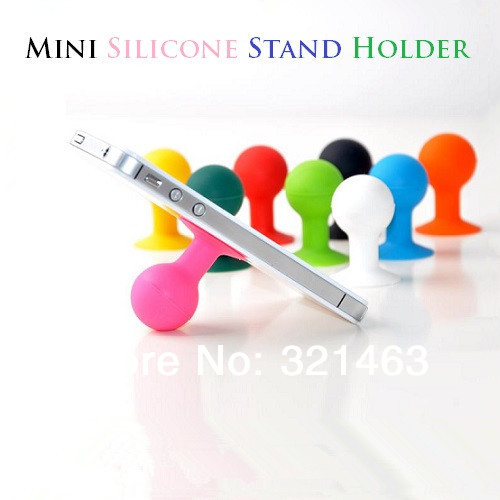 Universal Mini Silicone Mobile Phone Holders for General Models of Cell Phone Stands Suction Cup(China (Mainland))