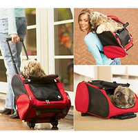 WGA pet shop Fashion pet trolley bag dog backpack Pet Rod box  dog outdoor bag pet bag dog carrier
