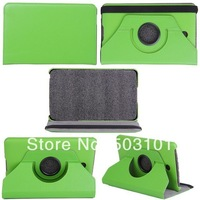 2014 High quality 360 degree rotating Litchi Grain leather wallet case for Dell Venue 7 inch 150pcs/lot